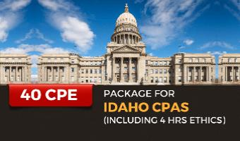 Package for Idaho CPAs (Incl. 4 hrs Ethics)