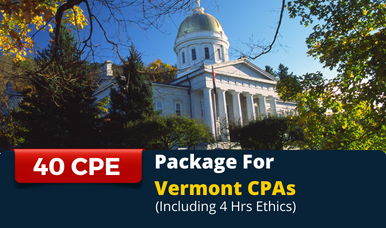 CPE Package for Vermont CPAs