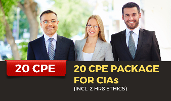 20 CPE Package for CIAs (Incl. 2 hrs Ethics)