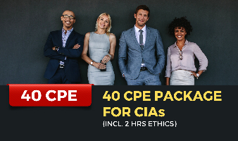 40 CPE Package for CIAs (Incl. 2 hrs Ethics)