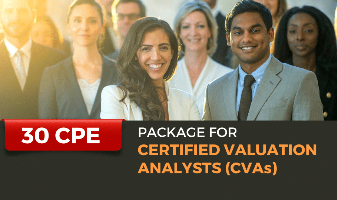 Package for Certified Valuation Analysts(CVAs)
