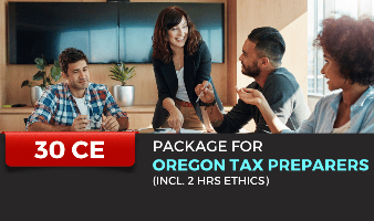 Package for Oregon Tax Preparers(Incl. 2 hrs Ethics)