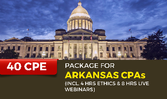 40 CPE Package for Arkansas CPAs