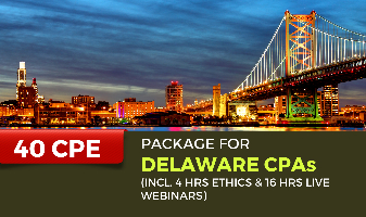40 CPE Package for Delaware CPAs