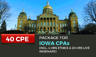 40 CPE Package for Iowa CPAs
