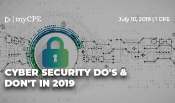 Cyber Security  Do's & Don'ts in 2019