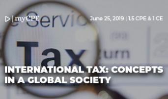 INTERNATIONAL TAX: CONCEPTS IN A GLOBAL SOCIETY