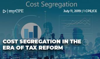 Cost Segregation in the Era of Tax Reform