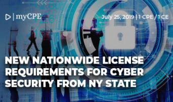 New Nation Wide License Requirements for Cyber Security from NY State