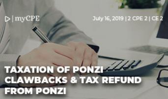 Taxation of Ponzi Clawbacks & Tax Refund from Ponzi