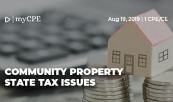 Community Property State Tax Issues