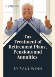 Tax Treatment Of Retirement Plans, Pensions And Annuities