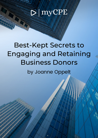 CPE E-book on ebook Course on retaining business donors