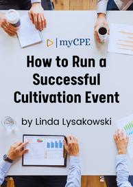 Successful Cultivation Event CPE E-book Course