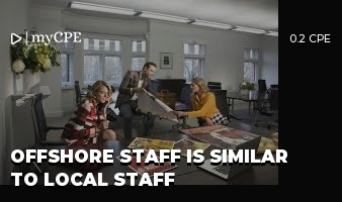 Offshore staff is similar to local staff