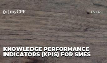 Knowledge Performance Indicators (KPIs) for SMEs