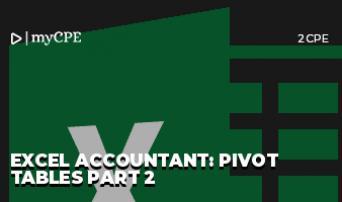 Excel Accountant: Pivot Tables Part 2