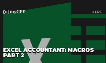 Excel Accountant: Macros Part 2