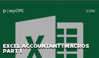 Excel Accountant : Macros Part 1