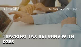 Tracking tax returns with O365