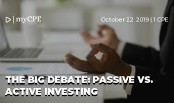 The Big Debate: Passive Vs. Active Investing