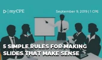 5 Simple Rules for Making Slides that Make Sense