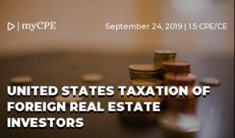 United States Taxation of Foreign Real Estate Investors
