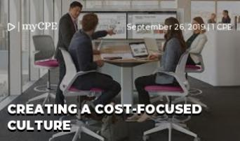 Creating A Cost-Focused Culture