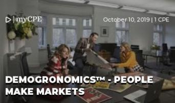 DEMOGRONOMICS™ - PEOPLE MAKE MARKETS