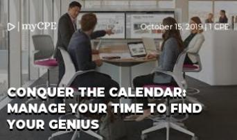 Conquer the Calendar: Manage your time to find your genius