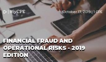 Financial fraud and operational risks - 2019 Edition