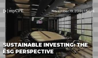 Sustainable Investing: The ESG Perspective