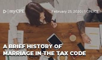 A Brief History of Marriage in the Tax Code