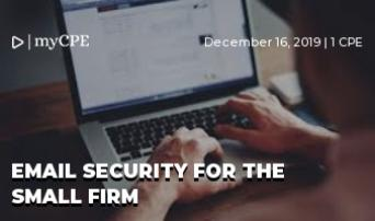 Email security for the small firm
