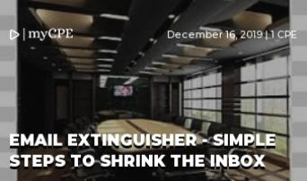 EMAIL EXTINGUISHER - SIMPLE STEPS TO SHRINK THE INBOX