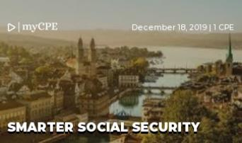 SMARTER SOCIAL SECURITY