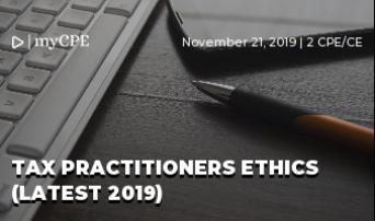 TAX PRACTITIONERS ETHICS (LATEST 2019)