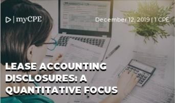 Lease Accounting Disclosures: A Quantitative Focus