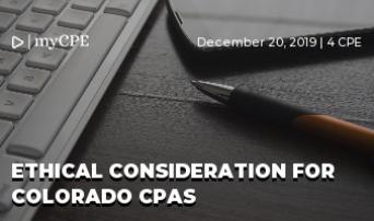 Ethical Consideration for Colorado CPAs