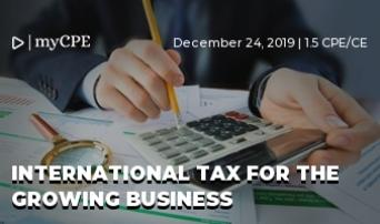 INTERNATIONAL TAX FOR THE GROWING BUSINESS