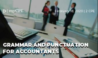 Grammar and Punctuation for Accountants