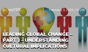 Leading Global Change – Part 1 – Understanding Cultural Implications