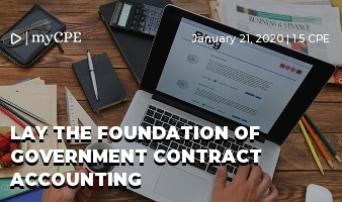 Lay the Foundation of Government Contract Accounting
