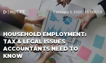 Household Employment: 2020 Tax & Labor Law Updates