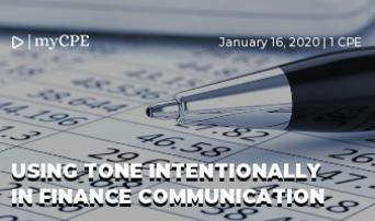 Using Tone Intentionally in Finance Communication