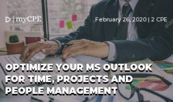 Optimize your MS Outlook for Time, Projects and People Management