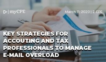 Key Strategies for Accouting and Tax Professionals to Manage E-mail Overload