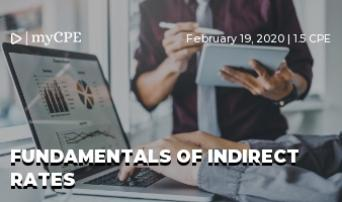 Government Accounting: Fundamentals of Indirect Rates