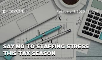 Say No to Staffing Stress this Tax Season
