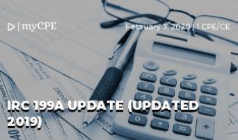 IRC 199A Update (UPDATED 2019)